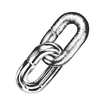 Boceto dibujado a mano de la cadena de bloque