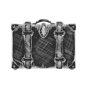 Boceto dibujado a mano de maleta de viaje
