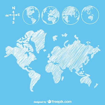 Boceto mapa del mundo