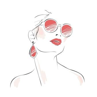 Boceto de mujer a la moda