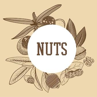 Boceto de plantilla de semillas saludables del sur