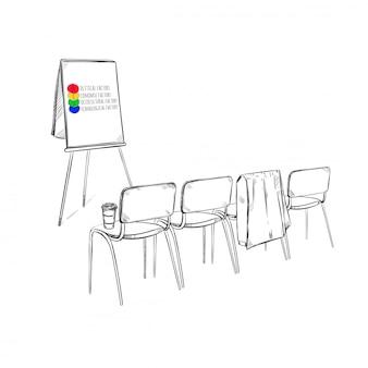 Boceto de presentación comercial de estrategia de marketing