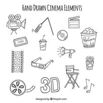 Bocetos de accesorios audiovisuales