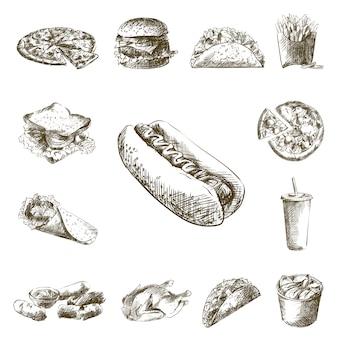 Bocetos de comida rápida