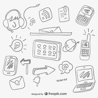 Bocetos concepto de internet