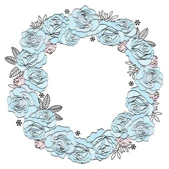 Boda cumpleaños fiesta fiestas floral guirnalda rosas azules
