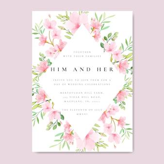 Boda floral marco flor de cerezo