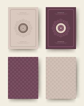 Boda guardar las tarjetas de invitación de fecha vintage tipográficas. diseño de invitaciones para boda