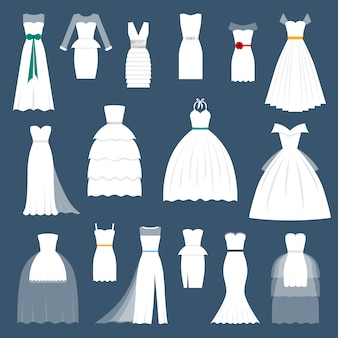 Boda novia vestido elegancia estilo celebración vector