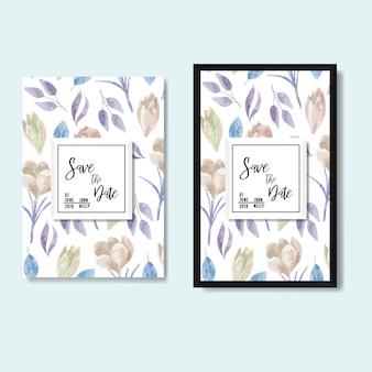 Boda vector floral invitar plantilla de tarjeta de invitación