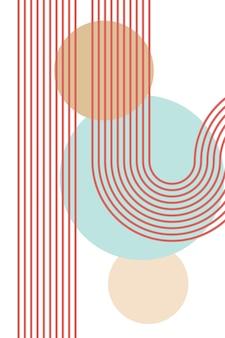Boho arco iris escandinavo arco iris boho interior cartel stock vector ilustración
