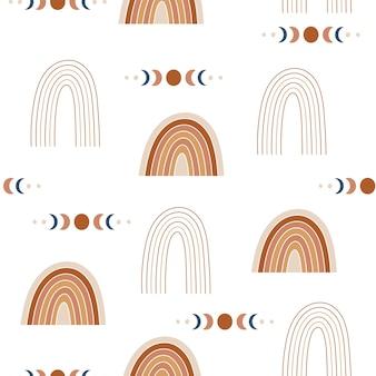 Boho rainbows de patrones sin fisuras.