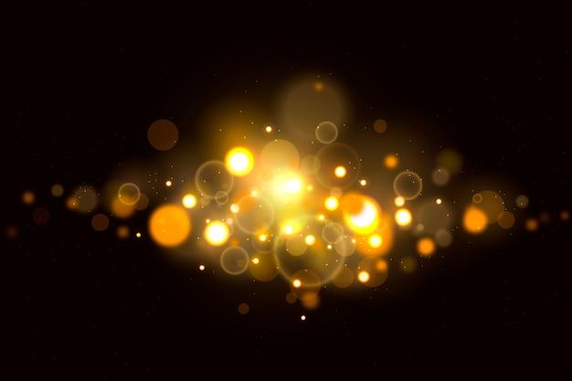 Bokeh efecto de luces sobre fondo oscuro