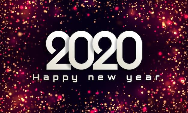 Bokeh enciende el fondo de navidad 2020
