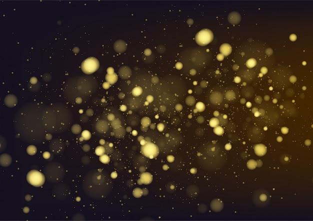 Bokeh de fondo abstracto de oro. ilustración vectorial