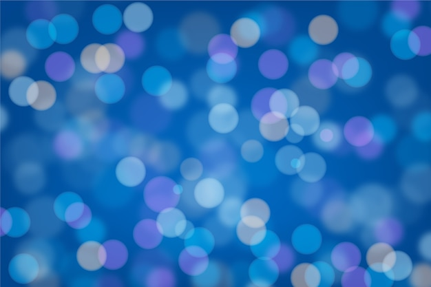 Bokeh de fondo azul