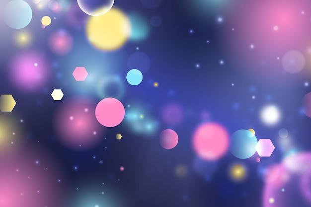 Bokeh de fondo colorido