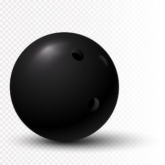 Bola de bolos negra 3d aislada