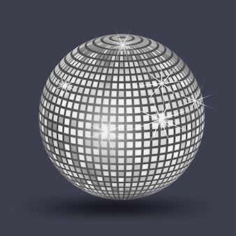 Bola de discoteca, bola de espejos plata