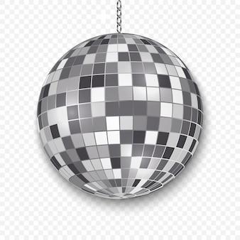 Bola de discoteca espejo aislado.