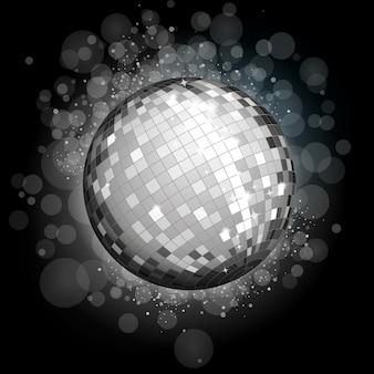 Bola de discoteca de plata