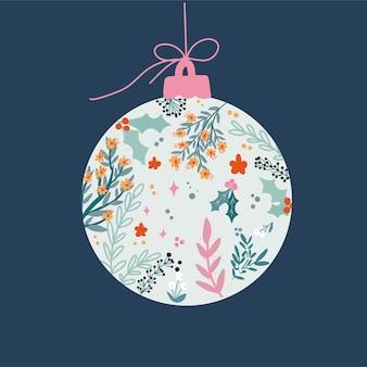 Bola floral de navidad