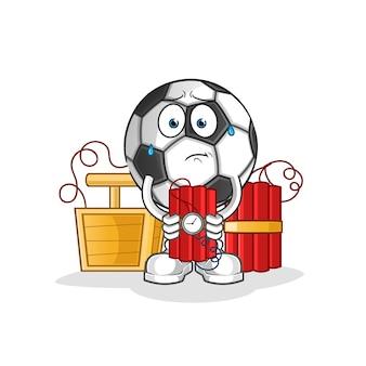 Bola con ilustración de personaje de dinamita
