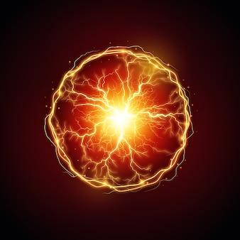 Bola de luz eléctrica efecto