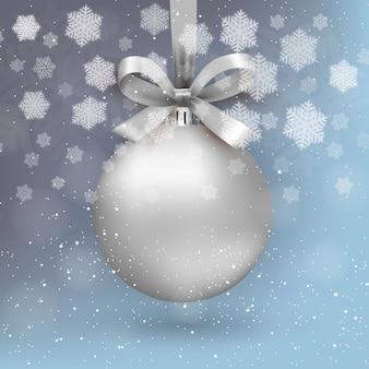 Bola de navidad de plata