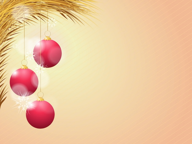 Bola de navidad roja con cinta y un lazo