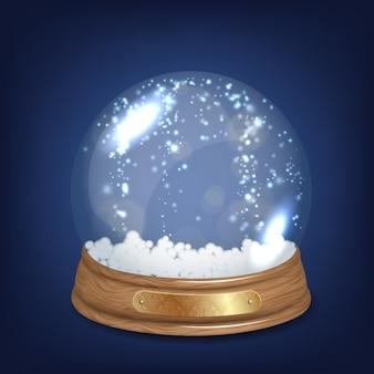 Bola de nieve de cristal brillante