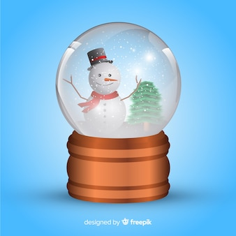Bola de nieve de cristal realista