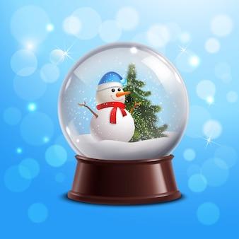 Bola de nieve con muñeco de nieve