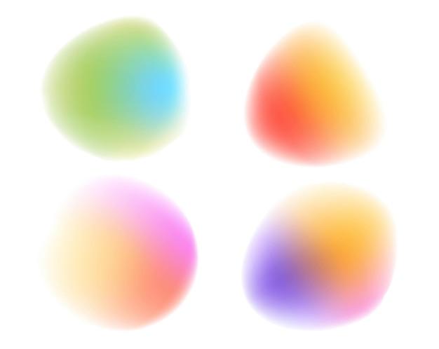 Bolas borrosas brillantes y fondo blanco.