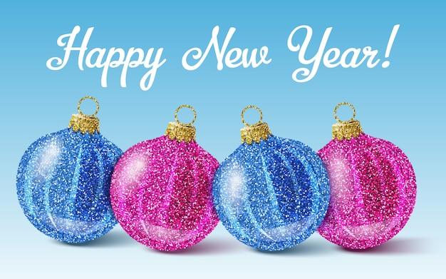 Bolas coloridas de año nuevo