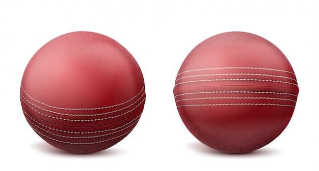 Bolas de cricket conjunto ilustración aislada