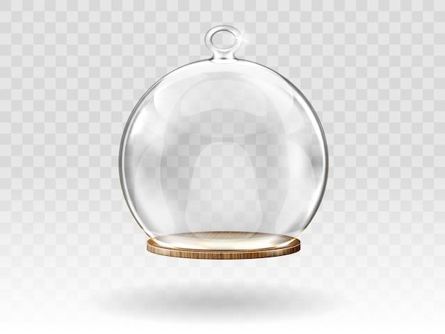 Bolas de cristal de navidad, cúpula colgante para decoración