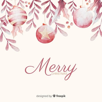 Bolas de feliz navidad en un hermoso arreglo