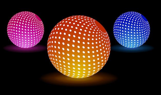 Bolas de luz digital