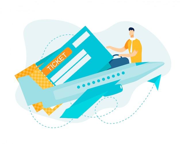 Boleto electrónico y registro en línea para vuelo