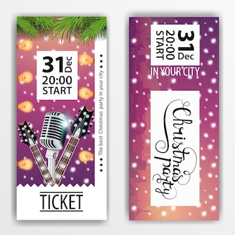 Un boleto para la fiesta de navidad. diseño moderno