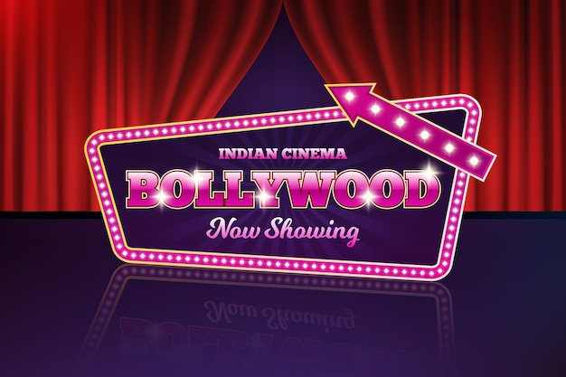 Bollywood cinema sign realista