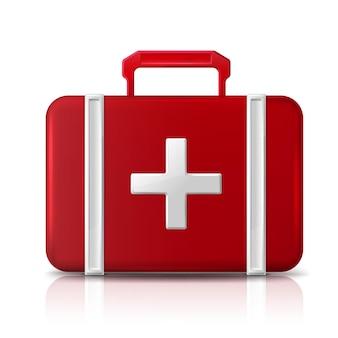 Bolsa de ayuda de primeros auxilios aislado en blanco