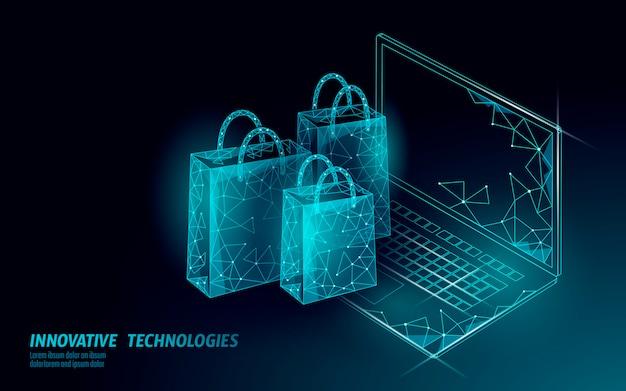 Bolsa de la compra . tienda online de tecnología de mercado de comercio de teléfonos inteligentes.
