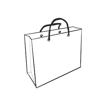 Bolsa de compras dibujada a mano
