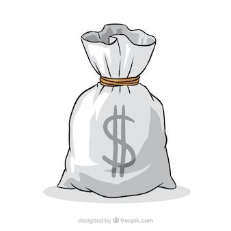 Bolsa de dinero dibujada a mano