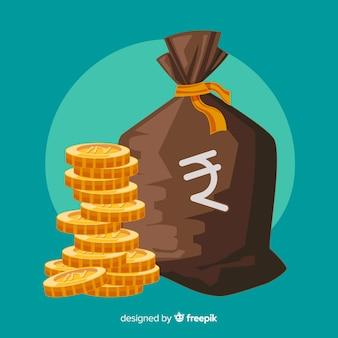 Bolsa de dinero de rupias indias