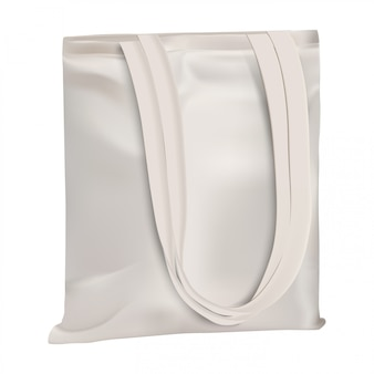 Bolsa ecológica. bolsa de lona de algodón en blanco