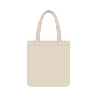 Bolsa ecológica de tela en blanco o bolsas de tela de hilo de algodón. paquete para compras