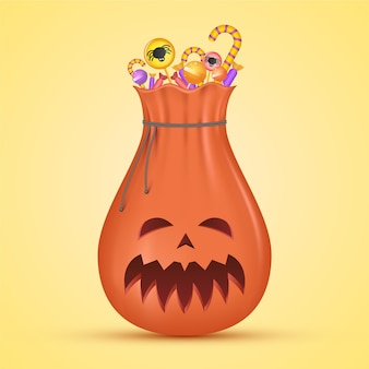 Bolsa de halloween de diseño realista